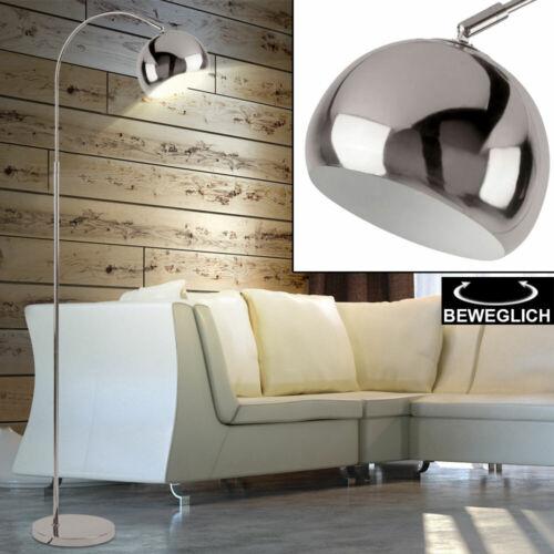 Luxus Bogen Lampe chrom Schlaf Zimmer Beleuchtung Spot Steh Leuchte verstellbar