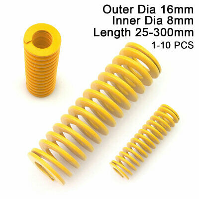 Die Springs OD 8-50mm Extra Light Load Yellow Compression Mould Spring All Sizes