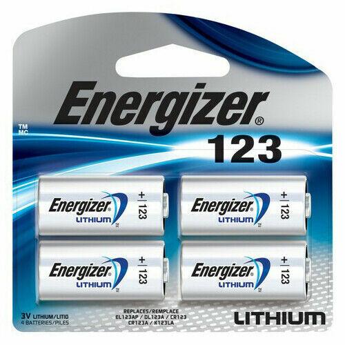 4 Energizer CR 123 3v Lithium Batteries DL123 123 EL123 (Sealed Pack) FRESH DATE