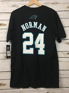 online retailer 72359 a6b7d Details about NWT Youth Nike Carolina Panthers Josh Norman Black Football  Jersey Tee XL