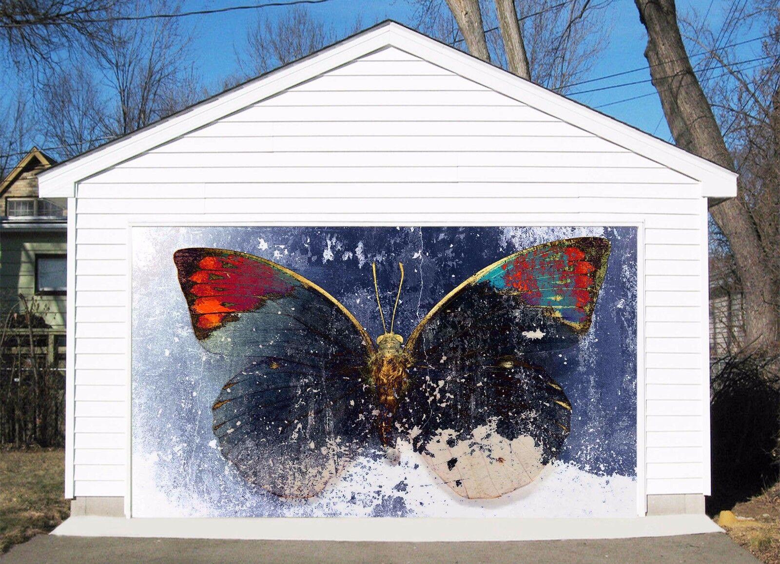 3D Nice Butterfly Garage Door Murals Wall Print Decal Wall Deco AJ WALLPAPER UK