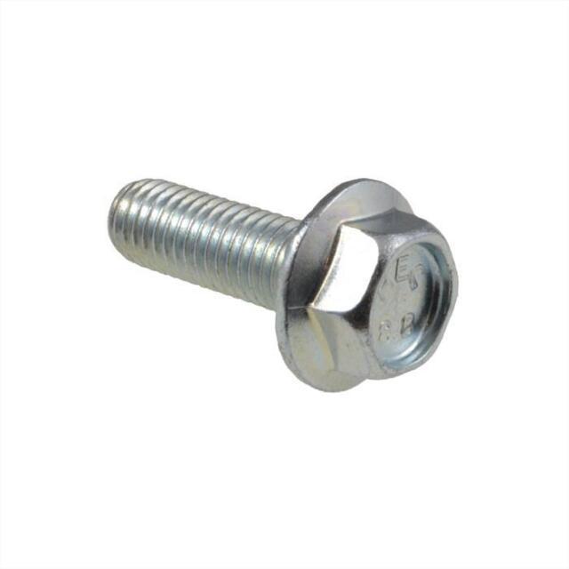 Qty 1 Hex Flange Bolt M8 (8mm) x 20mm Zinc HT Class 8.8 Serrated Set Screw
