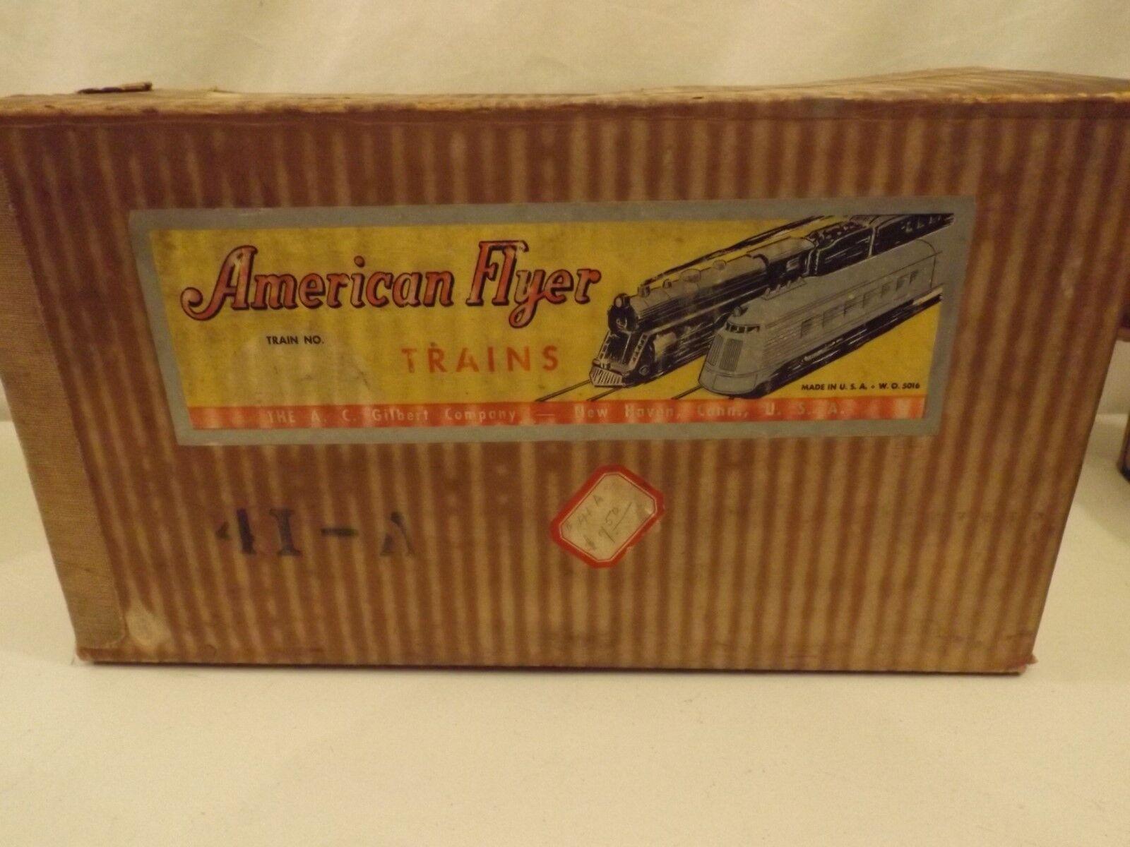 Calibrador O American Flyer A conjunto de publicidad en Caja Original