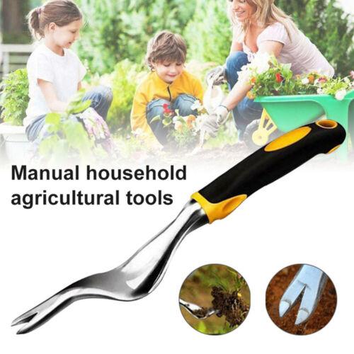 US Heavy Duty Hand Weeder Weeding Weed Dandelion Remover Puller Tool Fork Garden