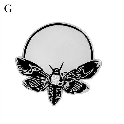 Rose Skull bat bee moon crystals balls BadgesGothic Design EnamelsBroochesPinsD6
