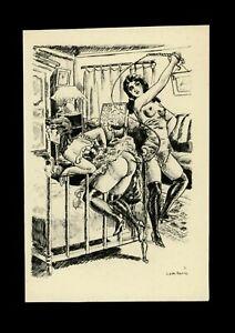 1932 Léon Pierre Noël Illustration Héliogravure Fouet Fessée Bdsm Curiosa