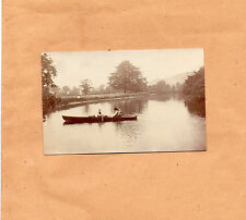 Edwardian Family on A rowing boat on the lake sepia tone shot 2 unposted art