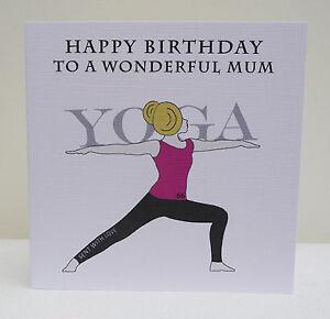 Personalised birthday card yoga sport ebay image is loading personalised birthday card yoga sport bookmarktalkfo Image collections