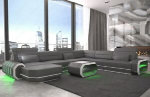 Xxl Wohnlandschaft Ecksofa Roma Designcouch Couch Usb Led