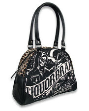 Liquor Brand Death Banner Punk Tattoo Skull Bowling Bag Purse Handbag B-OBW-034