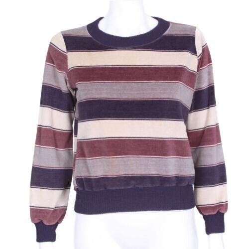 Velvet Tag 1970's mujeres Logo Gap Purple Style Vintage rayas Old de suéter las xX70wnqf