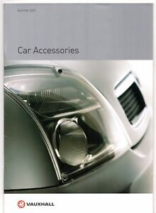 Details About Vauxhall Accessories Summer 2002 Uk Market Sales Brochure Corsa Astra Omega