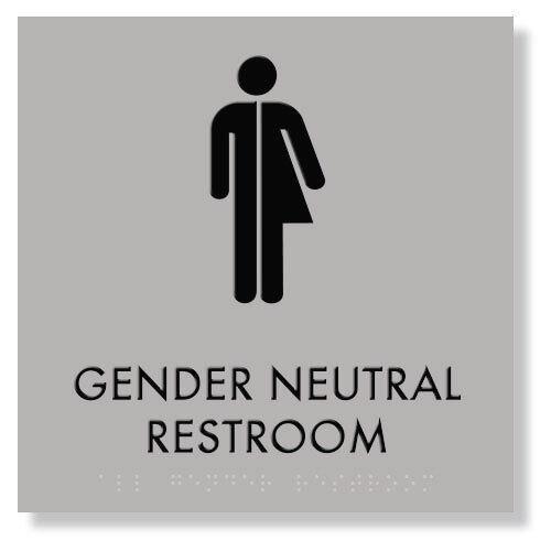"Gender Neutral Restroom Sign 9/""x9/"" ADA Compliant"