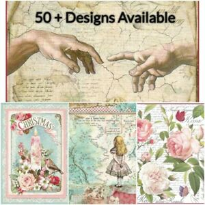 Stamperia-Rice-Paper-x1-A4-Decoupage-Sheet-70-Designs-Free-UK-P-amp-P