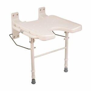 Handy-amp-Space-Saving-Adjustable-Wall-Mount-Fold-Away-Bath-Chair-amp-Shower-Seat