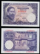 25 Pesetas PLANCHA año 1954. Isaac Albéniz. Serie A. MUY ESCASA Nº 5000084.