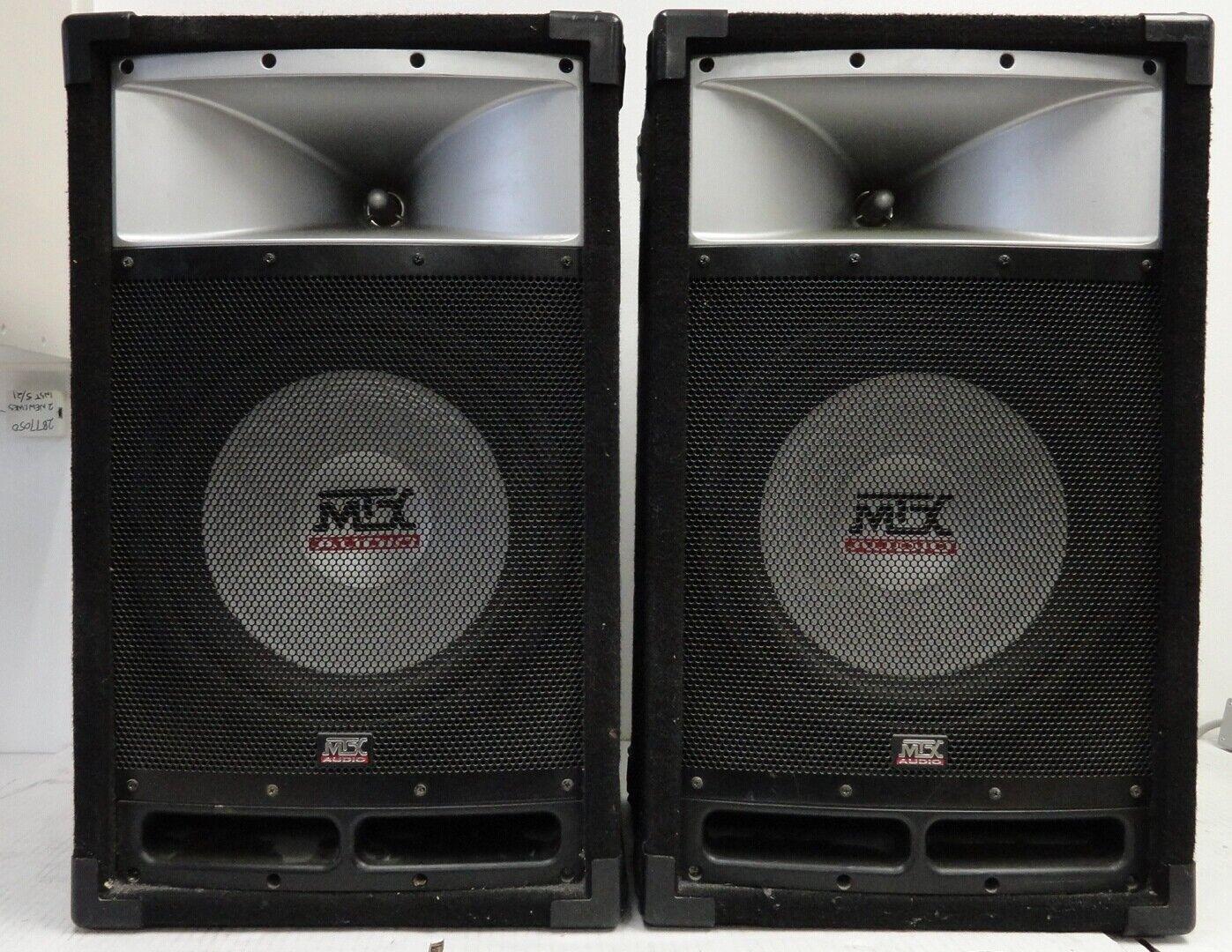 MTX TP112 Professional DJ Speaker Pair 12  300W 8 Ohm (2 Speakers) (4B5.31.JK)