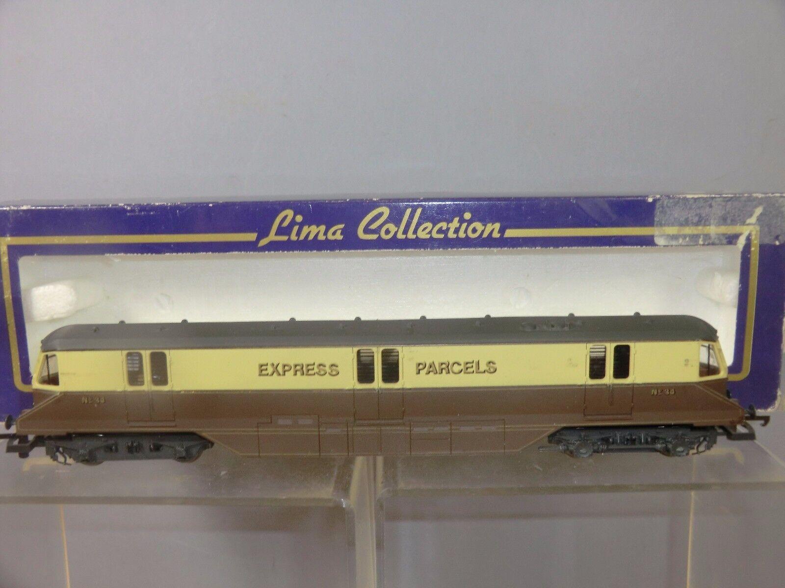 LIMA  MODEL No.2051 GWR EXPRESS PARCELS RAILCoche  ( marrón & CREAM LIVERY)  VN MIB