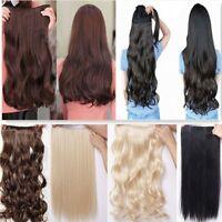 17/23 Curly/Wavy Hair Extension Clip in Hair Extensions 5 Clips bleach blonde wm