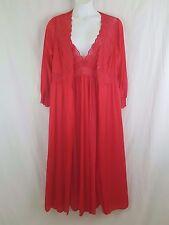 SHADOWLINE New Women's Red 2 pc Gown Robe Peignoir Lingerie Set Plus Size 1X
