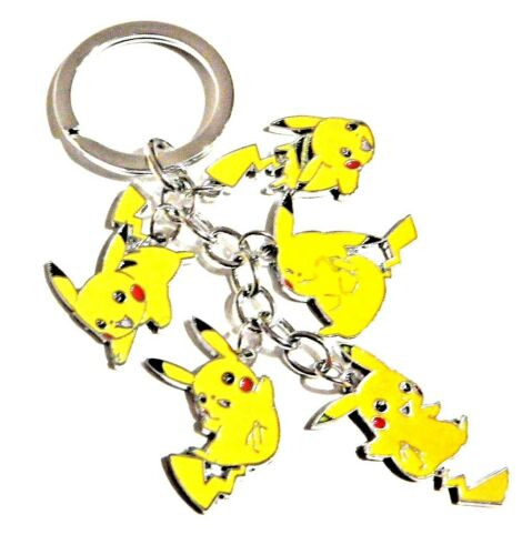 POKEMON PIKACHU KEY RING charm cluster bag clip mascot enamel metal chain new V4