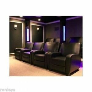 Image Is Loading Home Theater Recliner Black Faux Leather Club Chair