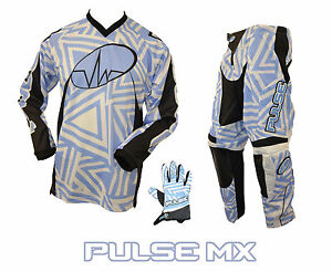 PULSE-MOTOCROSS-MX-ENDURO-BMX-MOUNTAIN-BIKE-KIT-ABSTRACT-KIT-BLUE-amp-WHITE
