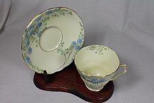 Vintage 'Trent' Radfords Bone China, Fenton, Cup/Saucer, Blue Daisy Like Flowers