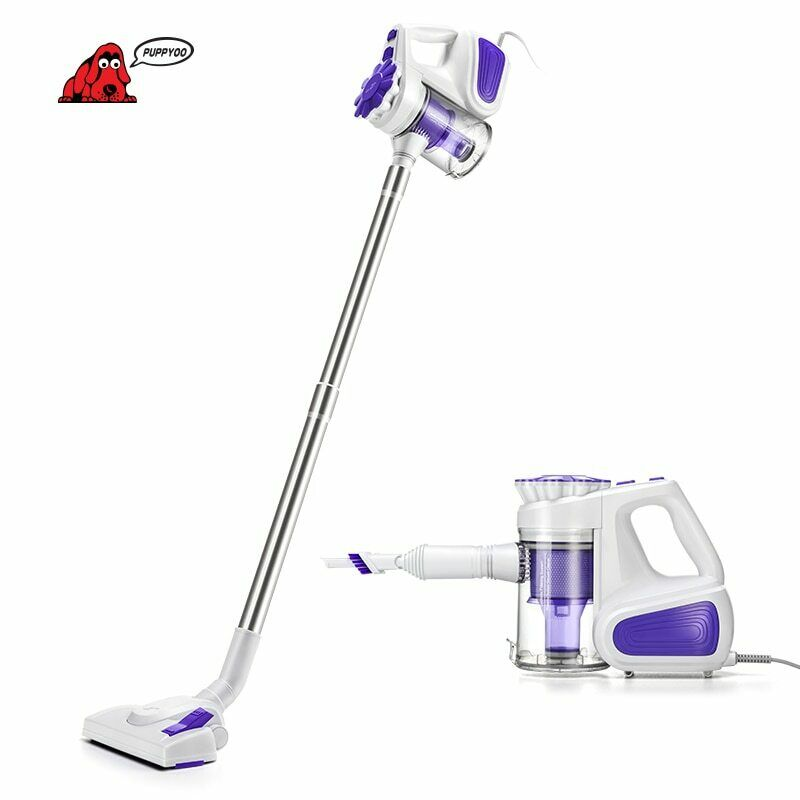 PUPPYOO Low Noise Portable Household Vacuum Cleaner Handheld Dust Collector and
