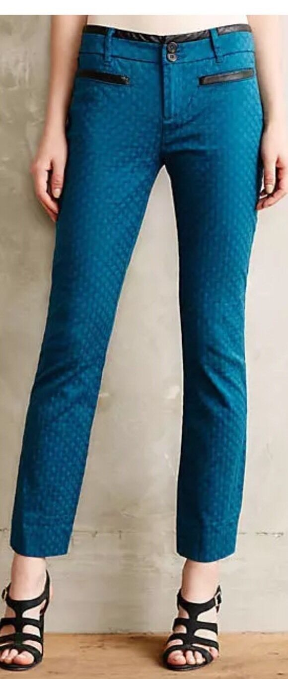 Anthropologie Cartonnier Textured Charlie Trousers Pants 2 NWT