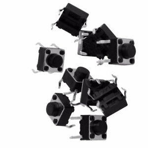 50Pcs-Tactile-Switch-Touch-Push-Button-Key-Tact-Cooker-6-X-6-X-4-3mm-4-pin-DIP