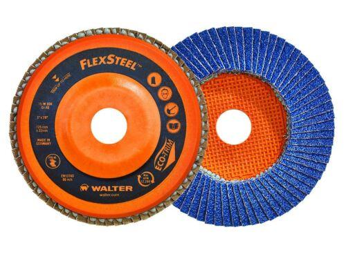 Grinding Dis... Walter 15W456 FLEXSTEEL Flap Disc Pack of 10-60 Grit 4-1//2 in