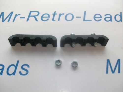 Bujía Encendido Plomo Negro 8 mm Separador Espaciador Abrazadera Soporte para los coches de V8