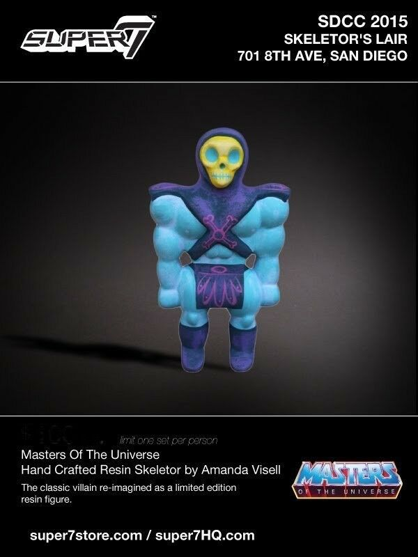 SKELETOR • AMANDA VISELL x SUPER7 • SKELETOR'S LAIR • SDCC 2015 RESIN FIGURE