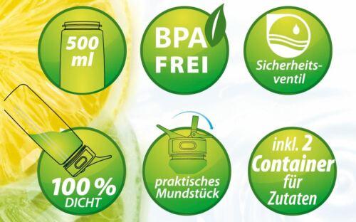 Best Sporting Protein Shaker Flasche Sieb 500ml Fächer Pulver Pillen BPA Frei