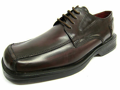 mal779- Hombre Malvern Cuero Con Cordones Formal zapatos- burgundy- Gran Precio
