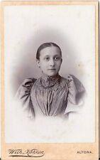 CDV photo Damenportrait - Altona 1890er