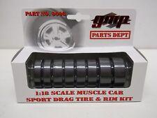 GMP 1:18 Scale Diecast - Sport Drag Tire & Rim Kit - Parts Dept #9006