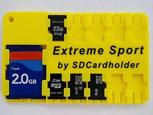 Waterproof SD Card Holder Storage Wallet Case SD//SDHC//SDXC GoPro//Drone