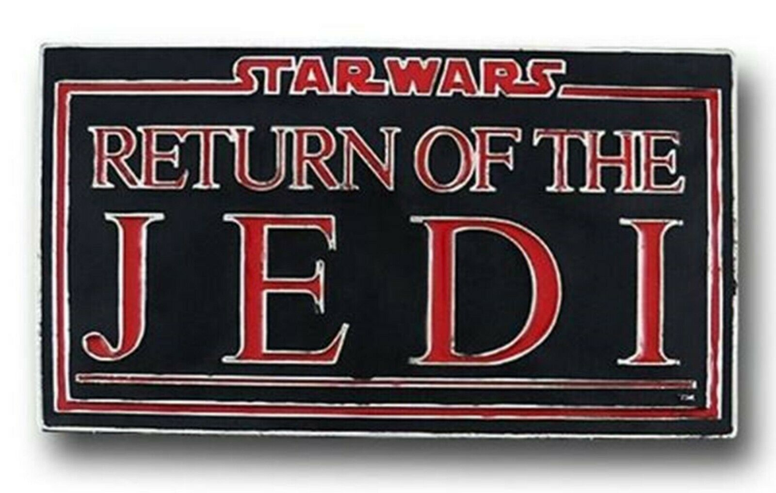 Star Wars George Lucas Belt Buckle Return of the Jedi Text Original Cosplay New