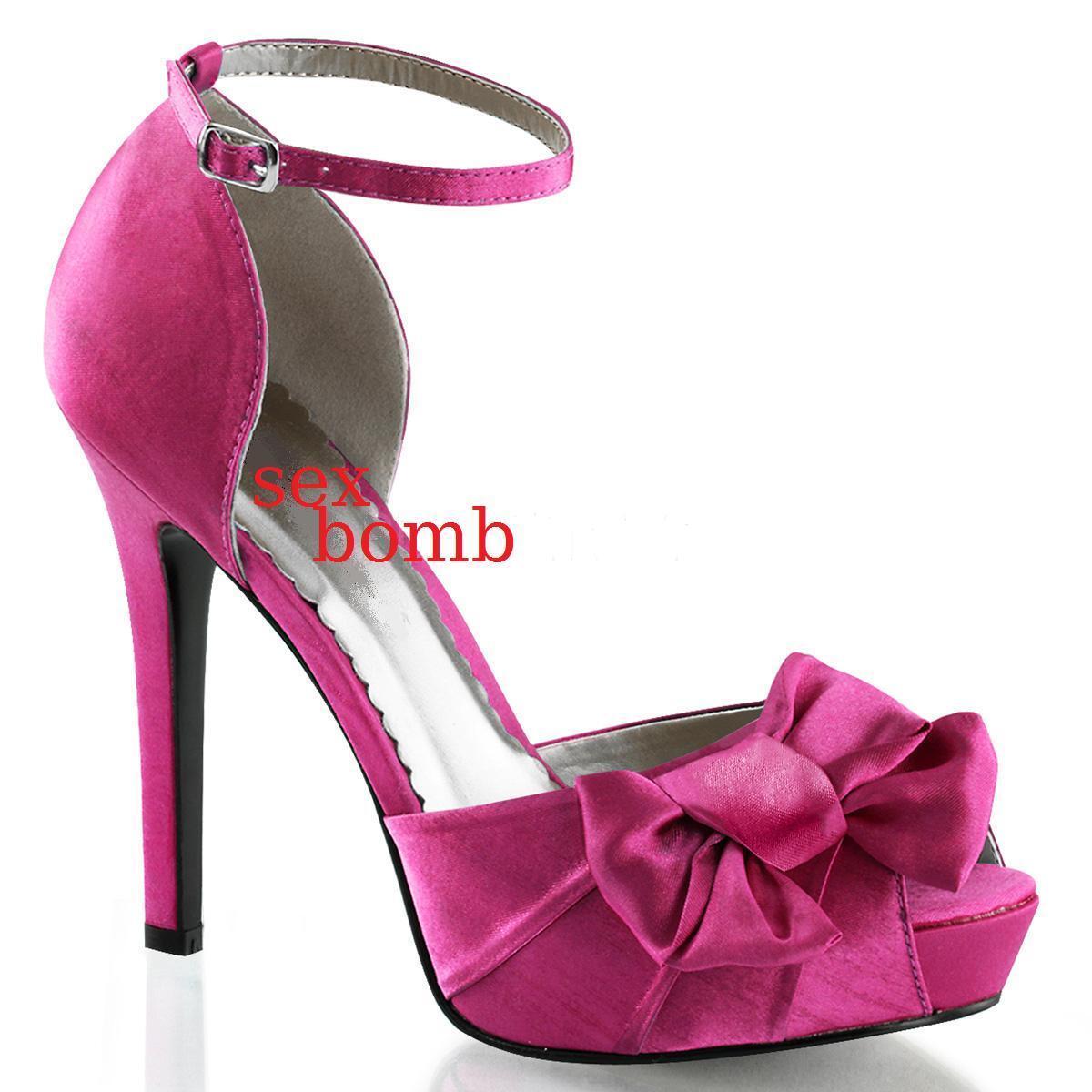 SEXY decolte tacco 12 dl 35 a 41 rose ACCESO PLATEAU chaussures spuntate CINTURINO