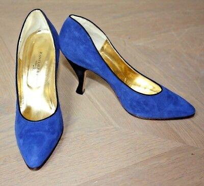 *** Escarpins Bleus Jean-claude Jitrois T. 40 Neufs ***