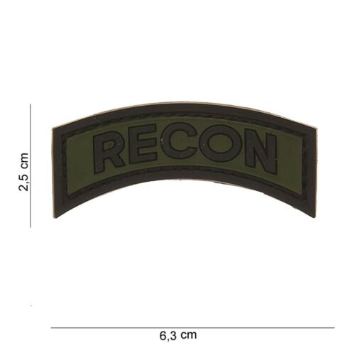 Recon VERDE PATCH DISTINTIVO Velcro Airsoft Paintball TACTICAL SOFTAIR