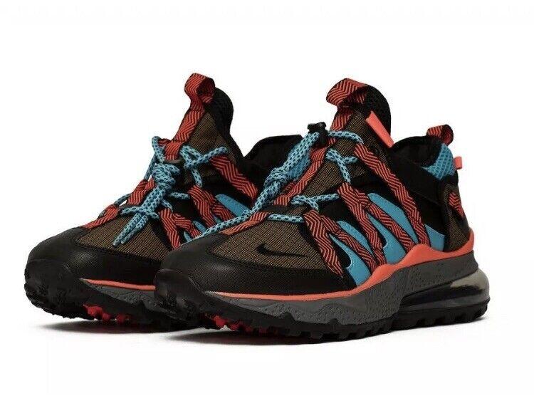 Nike Air Max 270 BOWFIN Men's Size 7 Dark Russet Black Bright Crimson AJ7200-200