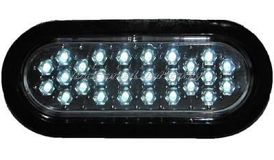 "(1) 6"" WORK TRUCK BOX TRAILER RV BACK-UP REVERSE FOG CLEAR WHITE 26-LED LIGHTS"