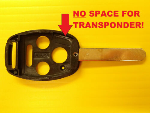 NEW Remote Head Key Replacement Shell Case 4 Buttons No Transponder Chip Space