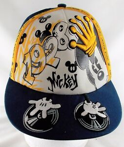 3ae77c0aa Disney Parks Mickey Mouse 1928 DJ Hip Hop Truckers Cap Hat Adult One ...