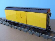 City Train Car Custom Built w/ New Used Lego Brick fits RC IR 9V Track Rail Set