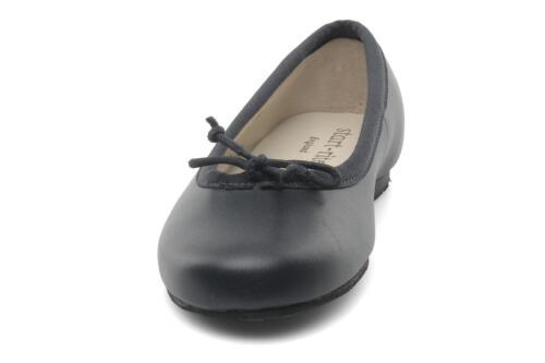 4 pelle Nuove rite 5 scarpe Start 11 Uk ballerina in scuro da piatte blu FXOxSXZw