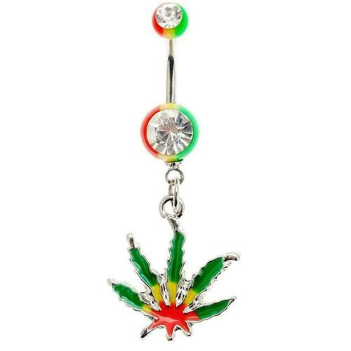 Leaf Belly Navel Button Rings Body Piercing Beauty Accessories Rings Women M7E7
